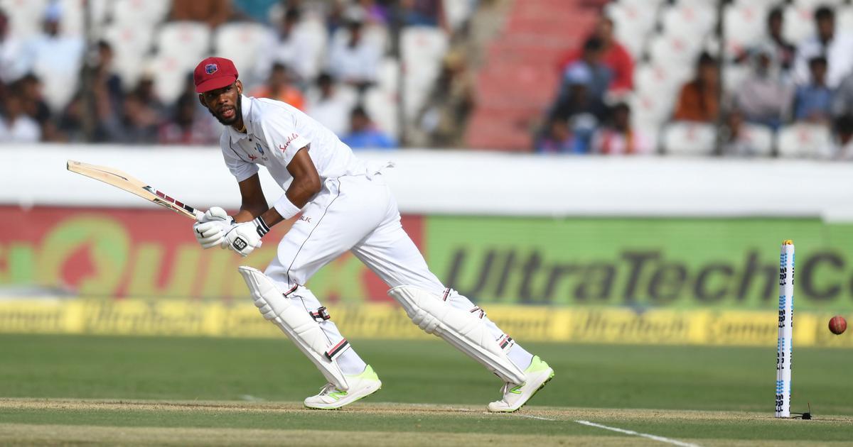 दूसरे टेस्ट के पहले दिन रोस्टन चेस की शानदार पारी से वेस्टइंडीज ने 295 रन बनाए