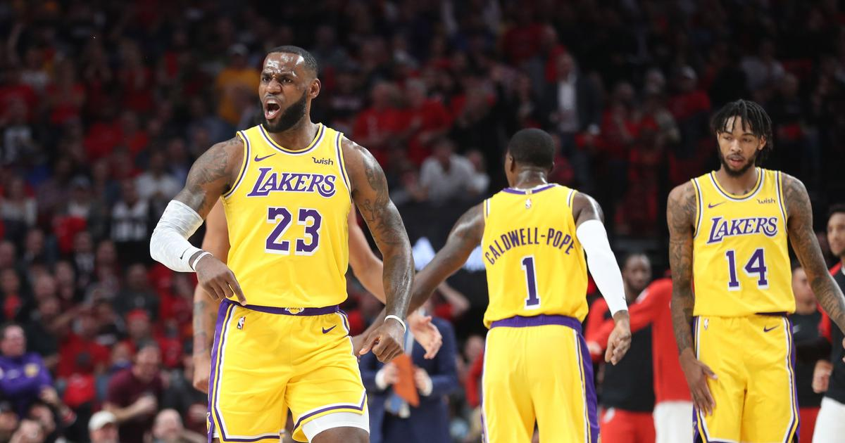 f1dd4cf7809 NBA  LeBron James stars with 26 points but Trail Blazers spoil his LA Lakers  debut