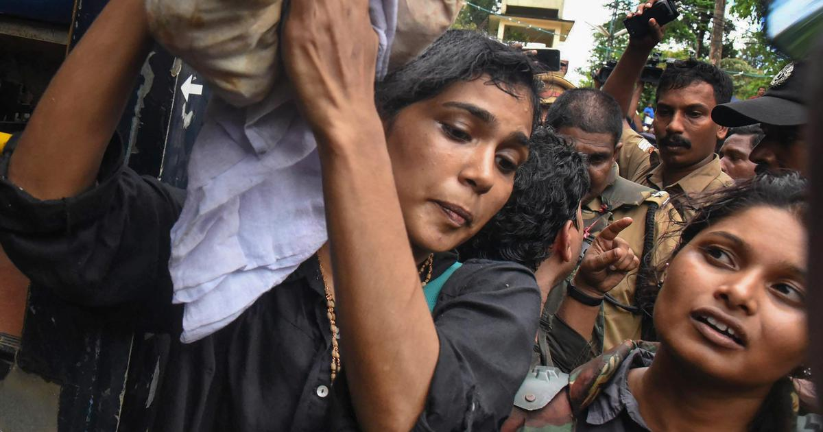 Sabarimala row: Protestors vandalise home of activist Rehana Fathima who tried to enter the temple