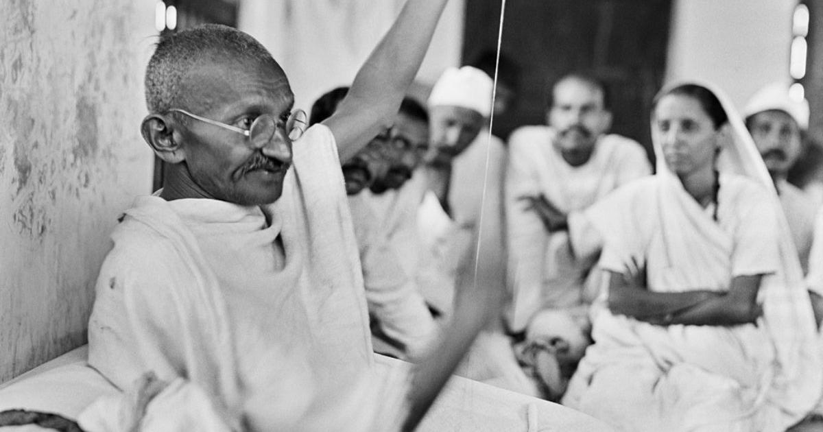 In images: A day in the life of Mahatma Gandhi