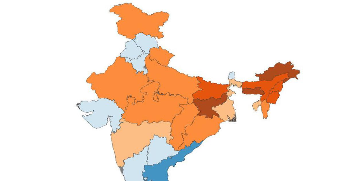 In maps: How India\'s states compare when it comes to rural ...