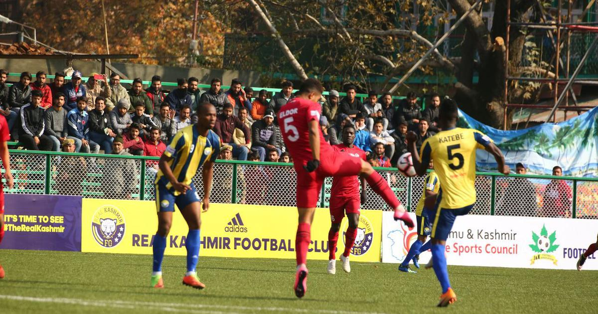 Real Kashmir and Churchill played out a 0-0 draw in the first I-League game in Kashmir