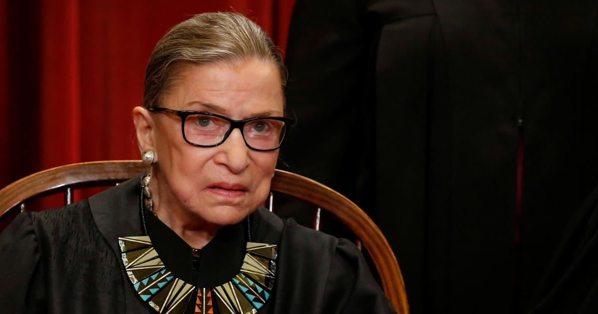 US Supreme Court judge Ruth Bader Ginsburg hospitalised after falling in her office