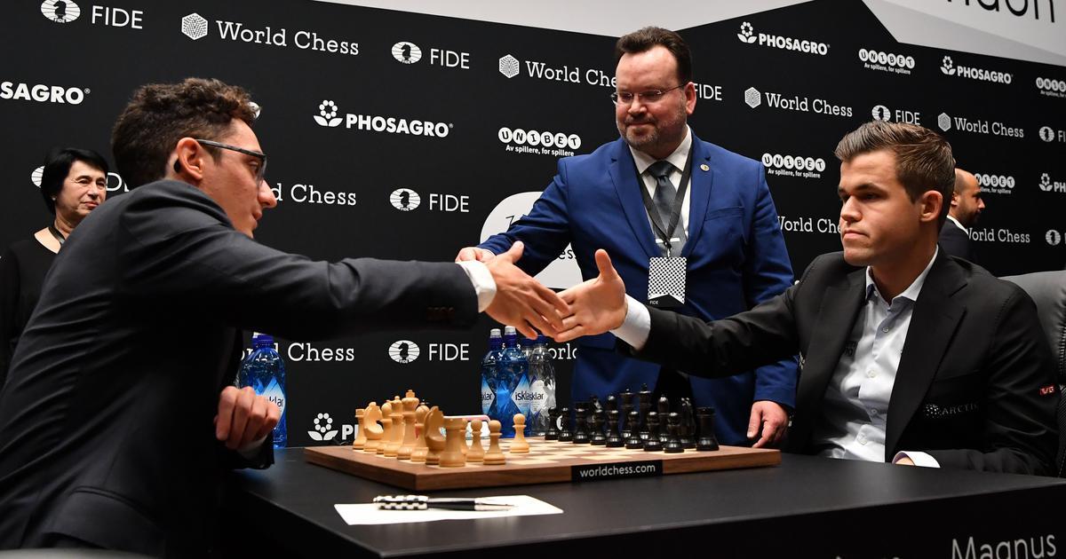 Magnus Carlsen and Fabiano Caruana draw opening game of World Chess Championship