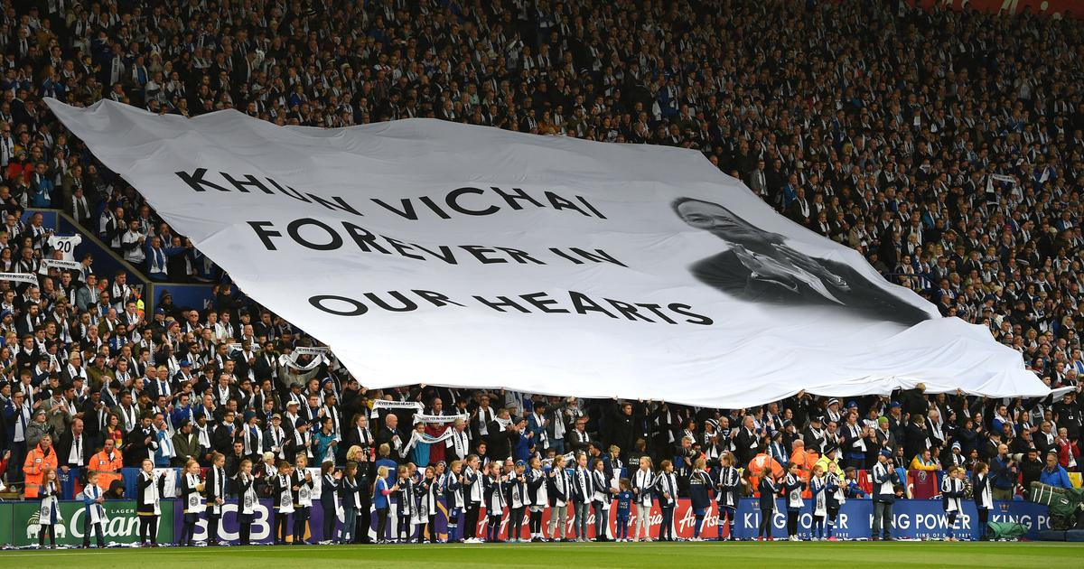 Leicester City pay tribute to late owner Vichai before goalless draw against Burnley