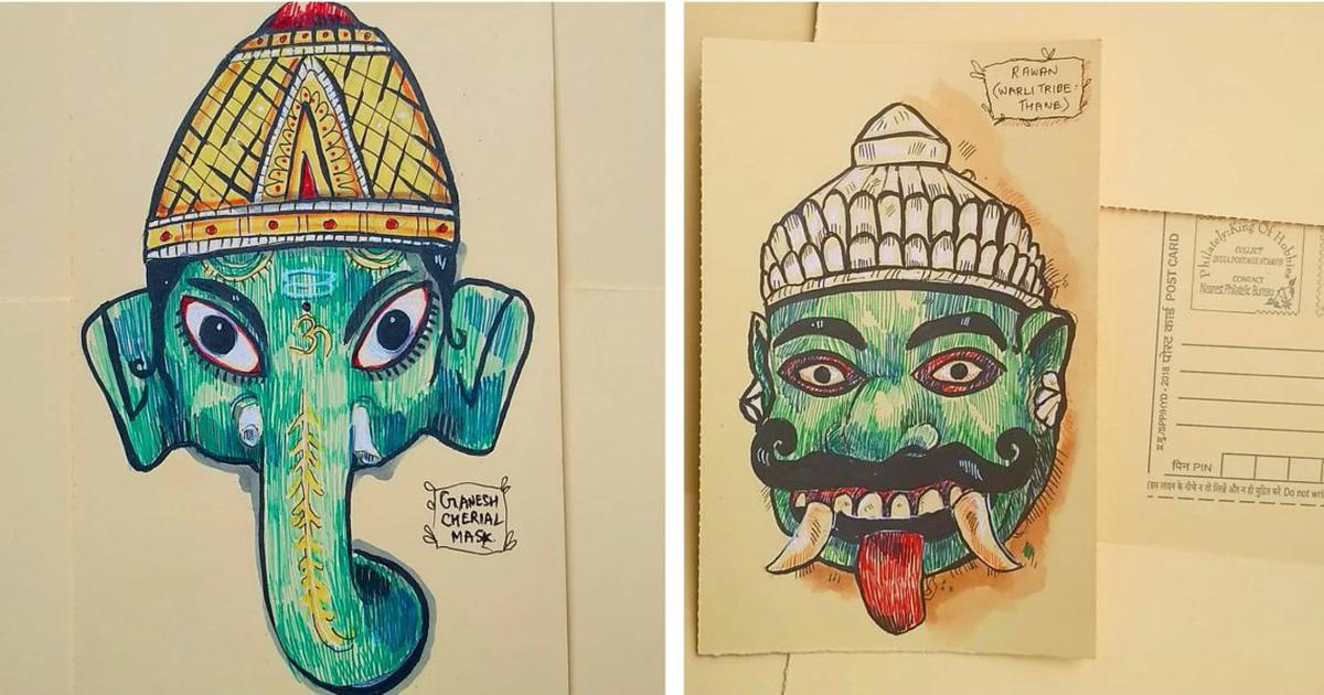 An artist wants to reignite interest in India's tribal masks through her illustrations