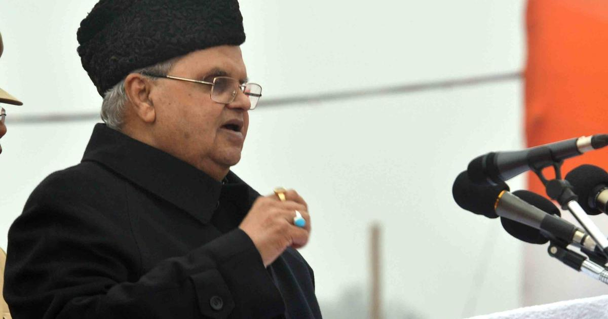 Jammu and Kashmir: PDP is the only party against early Assembly elections, says Governor SP Malik