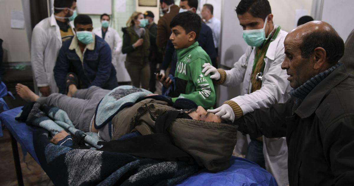 Syrian government claims toxic gas released by rebel groups injured 107 people in Aleppo