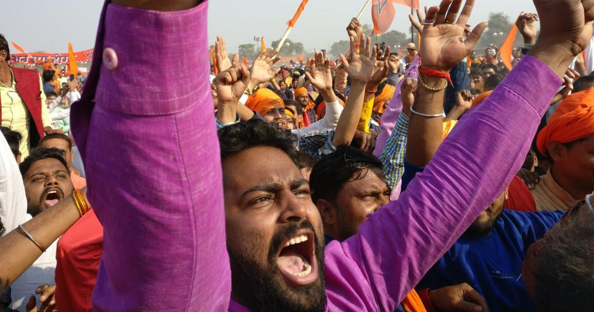 'Take matters into our hands': At VHP dharma sabha, calls for a law to build the Ayodhya Ram temple