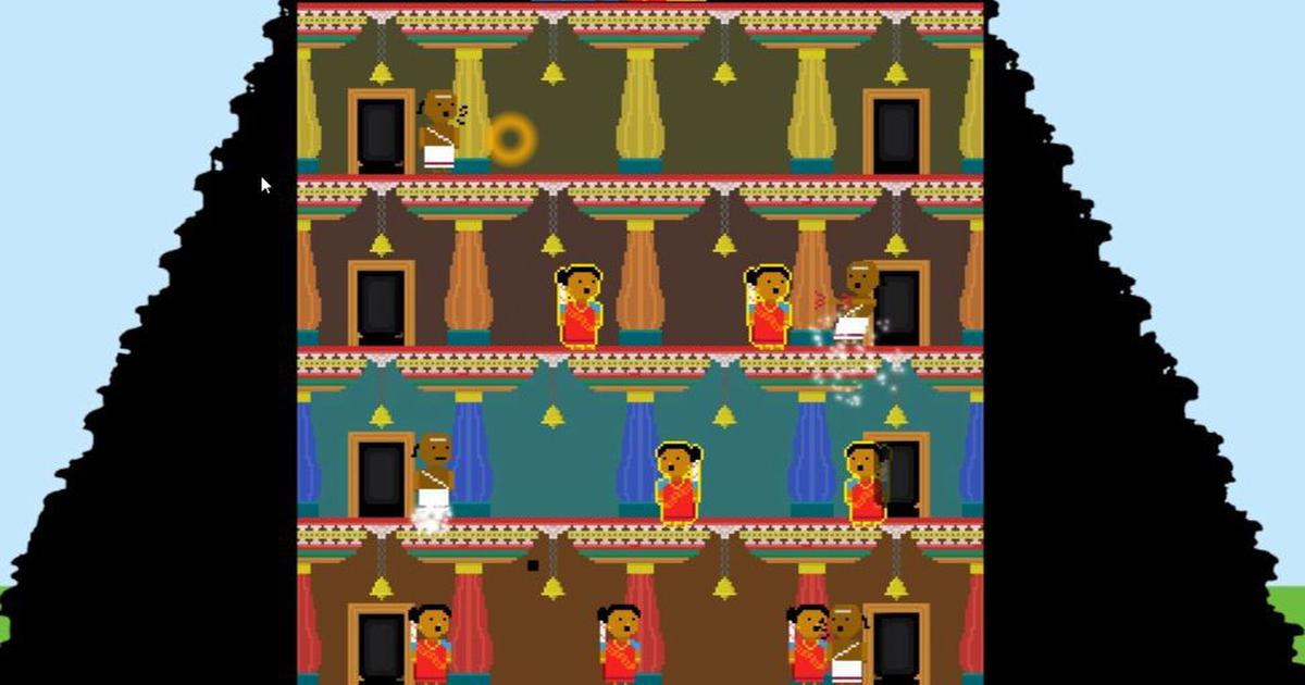Priests stop menstruating women from entering a temple. No, it's not Sabarimala – it's a video game