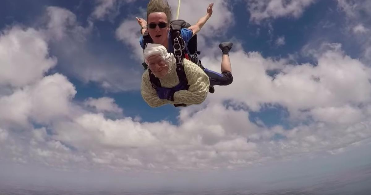 Watch: This 102-year-old great granny from Australia became probably the world's oldest skydiver
