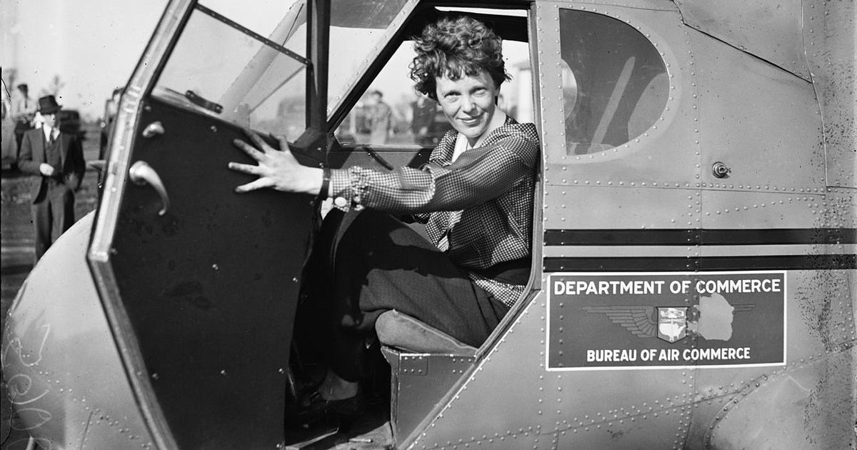 Amelia Earhart's non-stop flight from the Red Sea to India was marked by British obstructionism