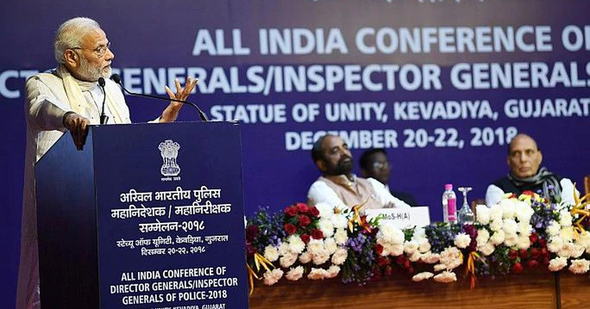 Modi's speech to police chiefs shows he isn't quite so bothered about rising religious conflict