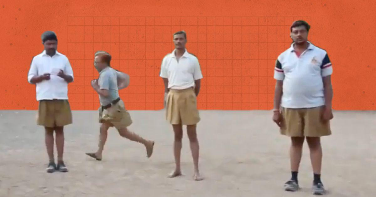 New Year smiles: Grown men in shorts run around at RSS shakha –  that's where our leaders came from