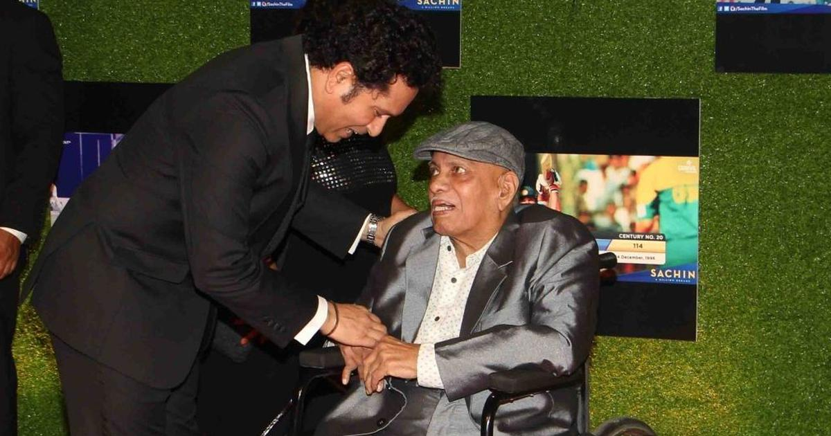 Cricket in heaven will be enriched with the presence of Achrekar sir, says Sachin Tendulkar