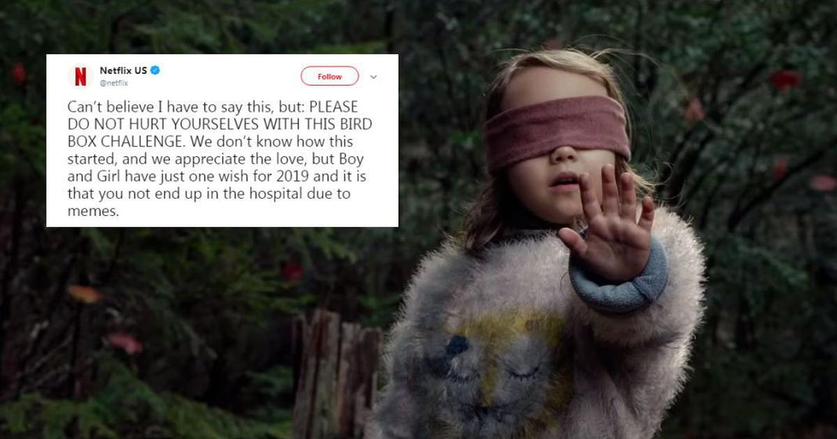 'Don't hurt yourself,' Netflix warns after Sandra Bullock's 'Bird Box' inspires blindfold challenge