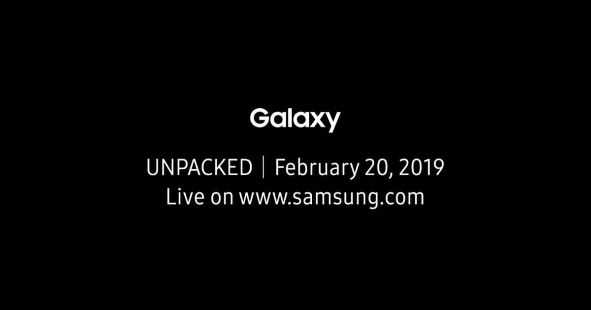 Samsung Galaxy unpacked event scheduled for February 20th for Galaxy S10 launch