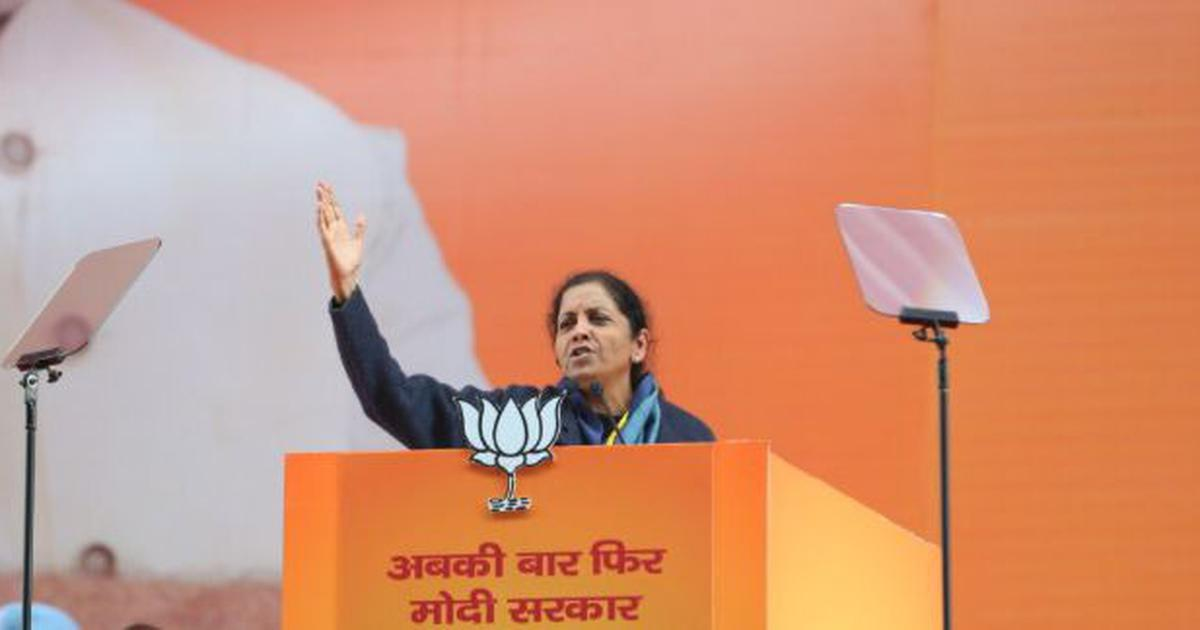 'Congress leaders went to Pakistan to seek help to remove Narendra Modi,' claims Nirmala Sitharaman