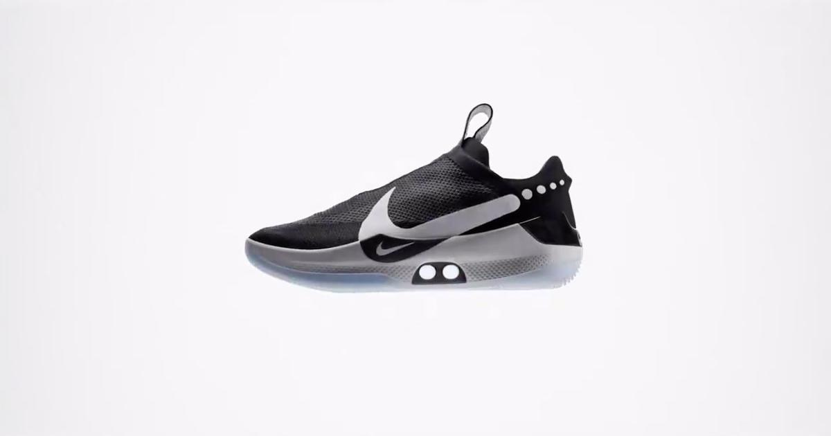 a7db749d5 Back to the Future  Nike unveils basketball shoes that lace up with the  touch of a button. Nike Adapt BB ...