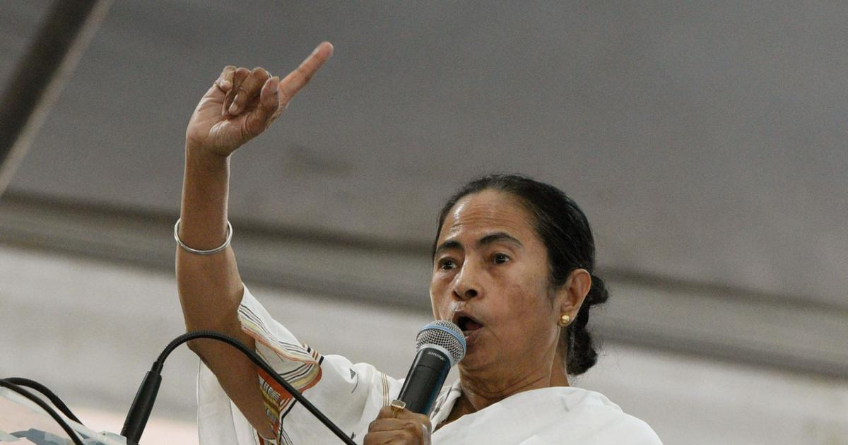 West Bengal CM Mamata Banerjee protests Election Commission's transfer of four police officers