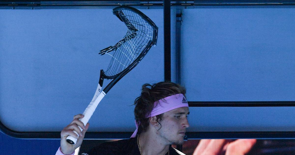 Zverev destroys racquet in Aus Open meltdown