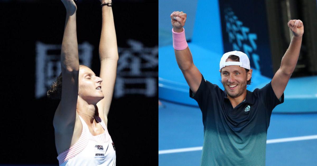 Belief, joy and female coaches: Similarities behind Pliskova and Pouille's dream Australian Open run