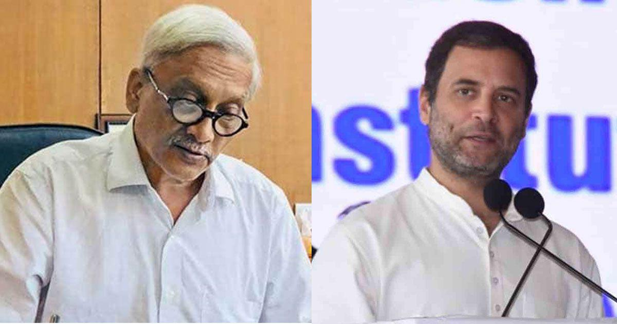 Goa: Rahul Gandhi meets Manohar Parrikar to wish him a 'speedy recovery'