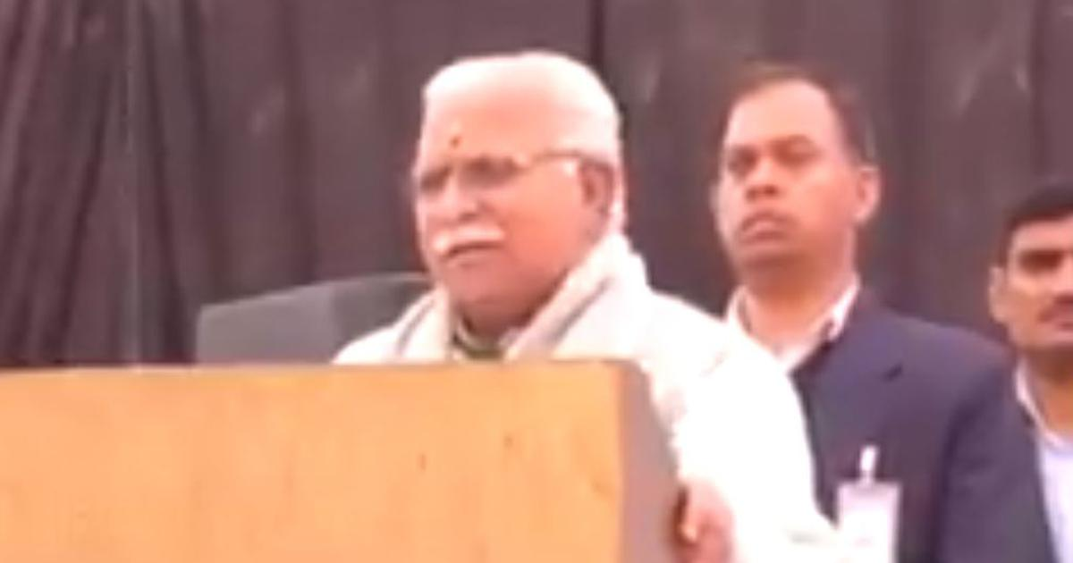 Watch: Haryana Chief Minister Khattar nails Pongal greetings in formal Tamil