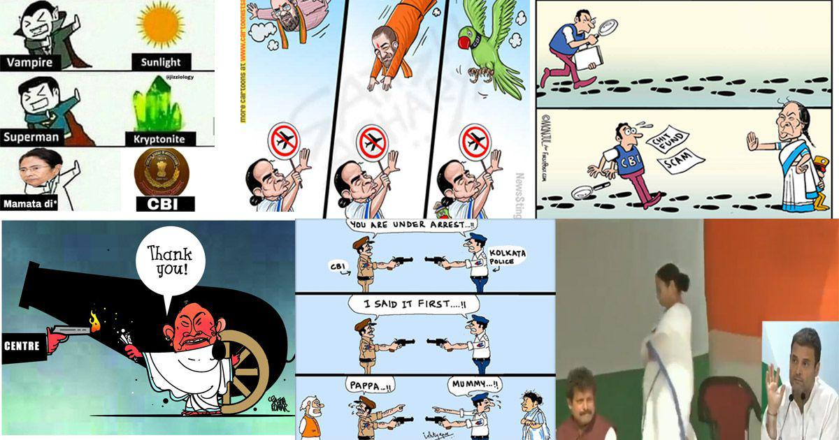 Mamata Banerjee goes to war with Narendra Modi, cartoonists and meme makers find fodder for laughs