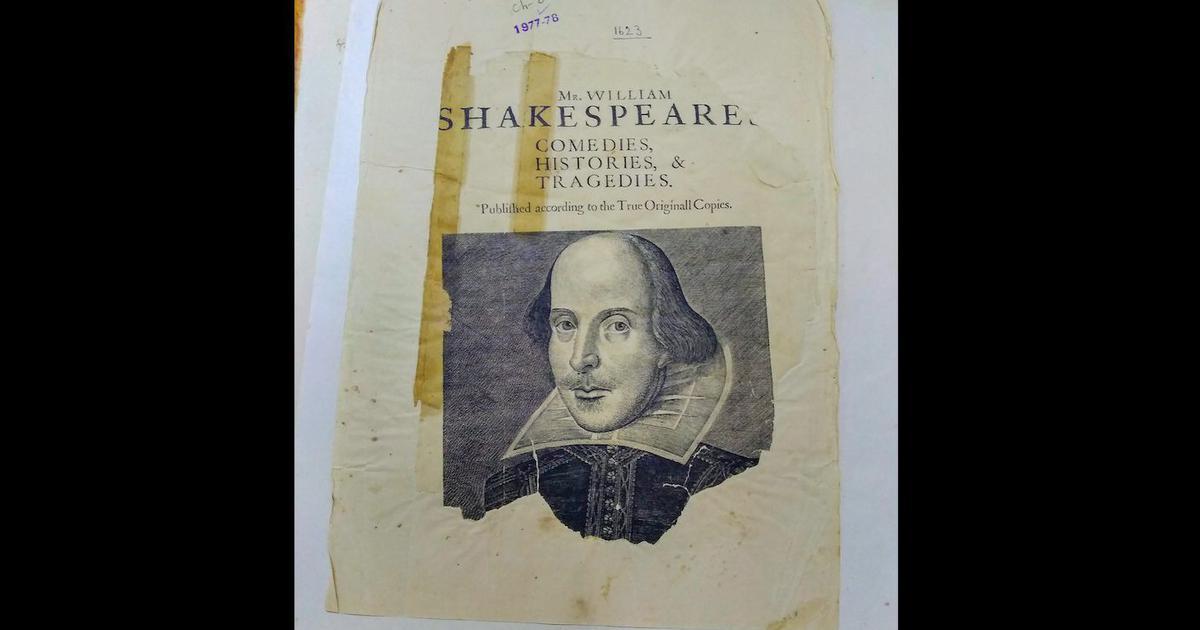 william shakespeare s first folio document with jawaharlal nehru