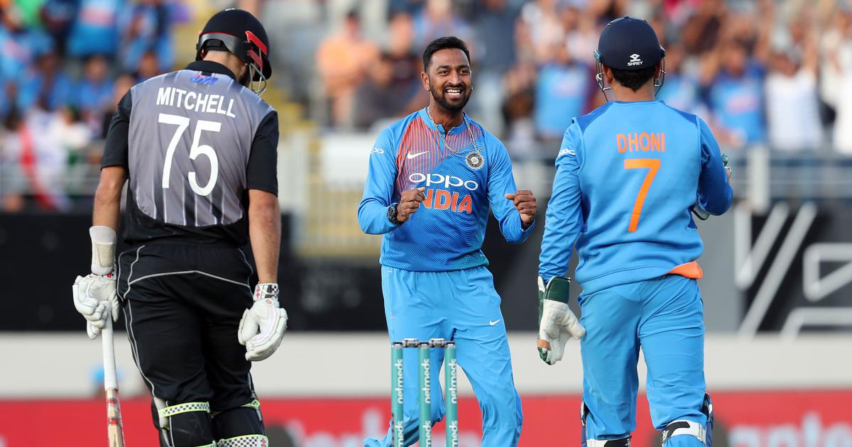 Second T20I: Krunal Pandya picks three for 28 as India restrict New Zealand to 158