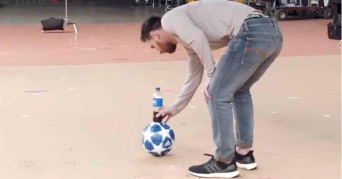 Watch: Lionel Messi posts video of an incredible trick shot and leaves football Twitter in awe