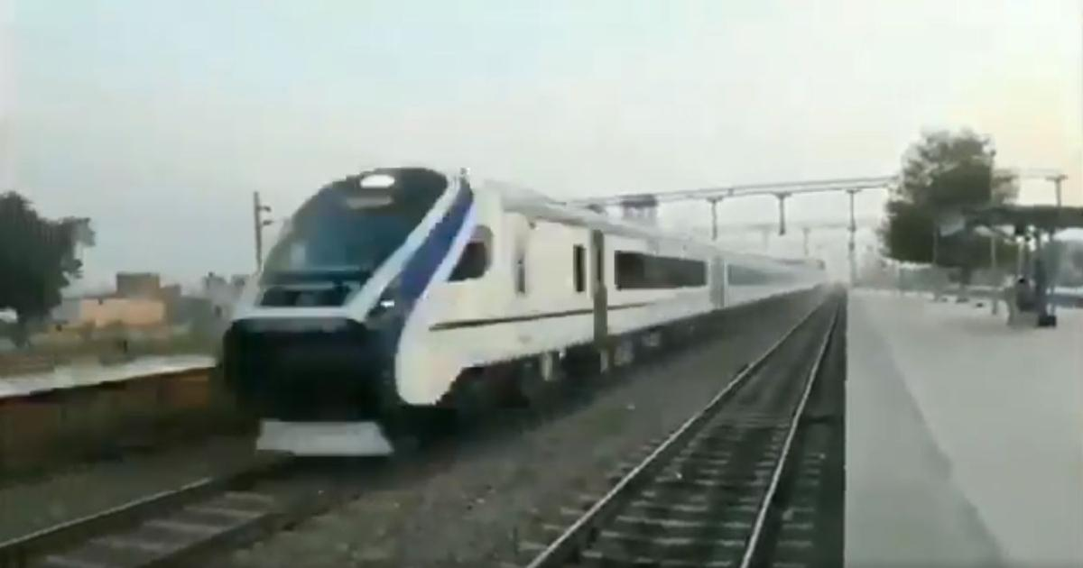 Fact check: Rail minister Piyush Goyal posts speeded-up train video to show development is zooming