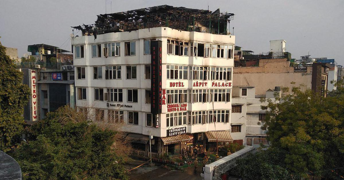 Delhi: Seventeen killed in massive fire at hotel in Karol Bagh, magisterial inquiry ordered