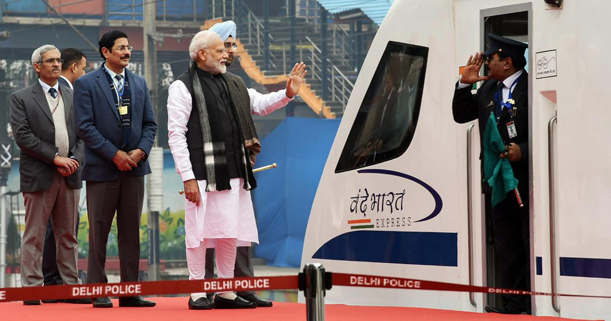 Vande Bharat Express: PM Modi flags off India's first engine-less, semi-high speed train