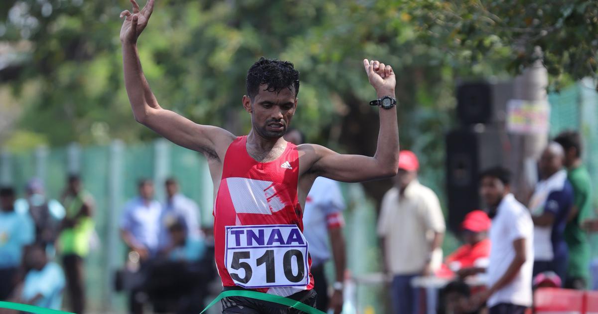 Jitendra Singh wins National Race Walking Championship but falls short of Worlds qualification mark