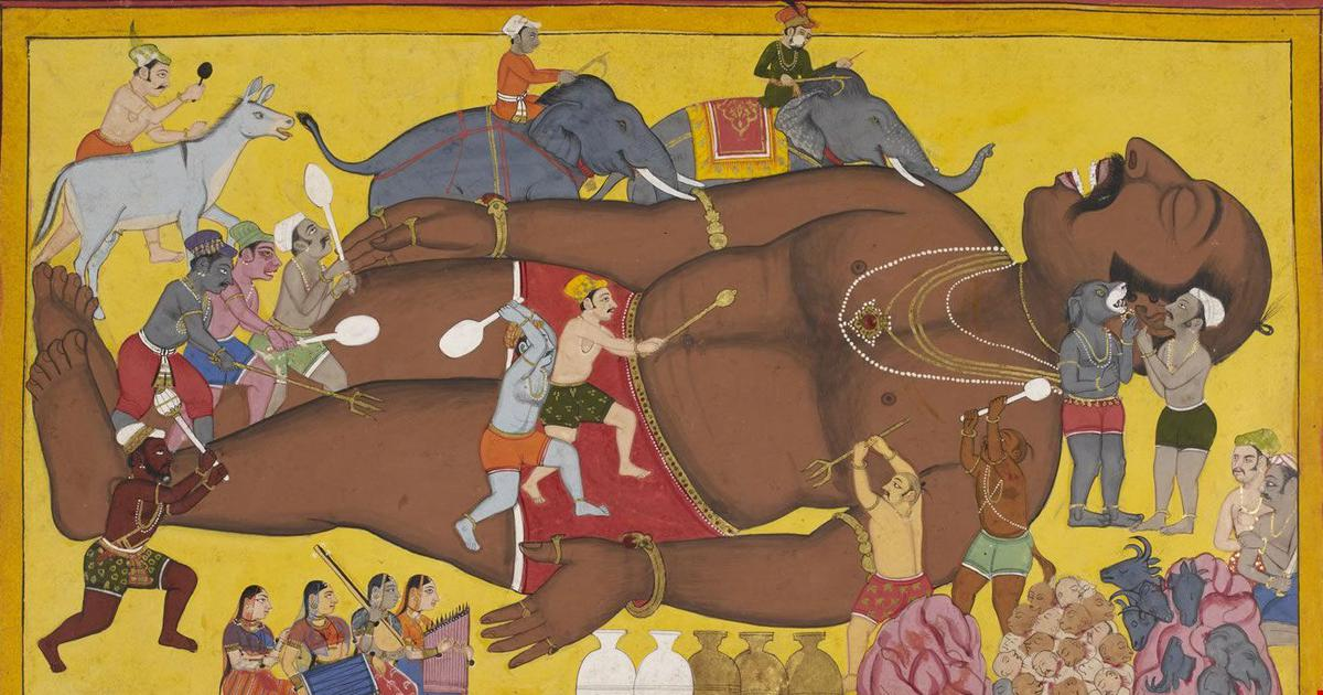 The granting of Kumbhakarna's boon: The Ramayana is told through a multitude of voices in this book