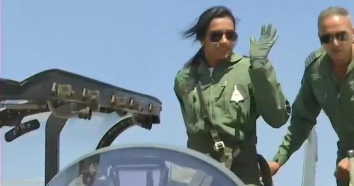 Badminton star PV Sindhu co-pilots a Light Combat Aircraft during Aero India show