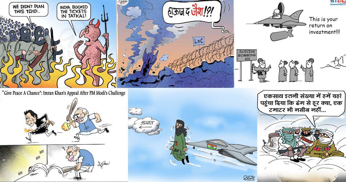 Cartoonists cheer 'Surgical Strike 2', praise Modi