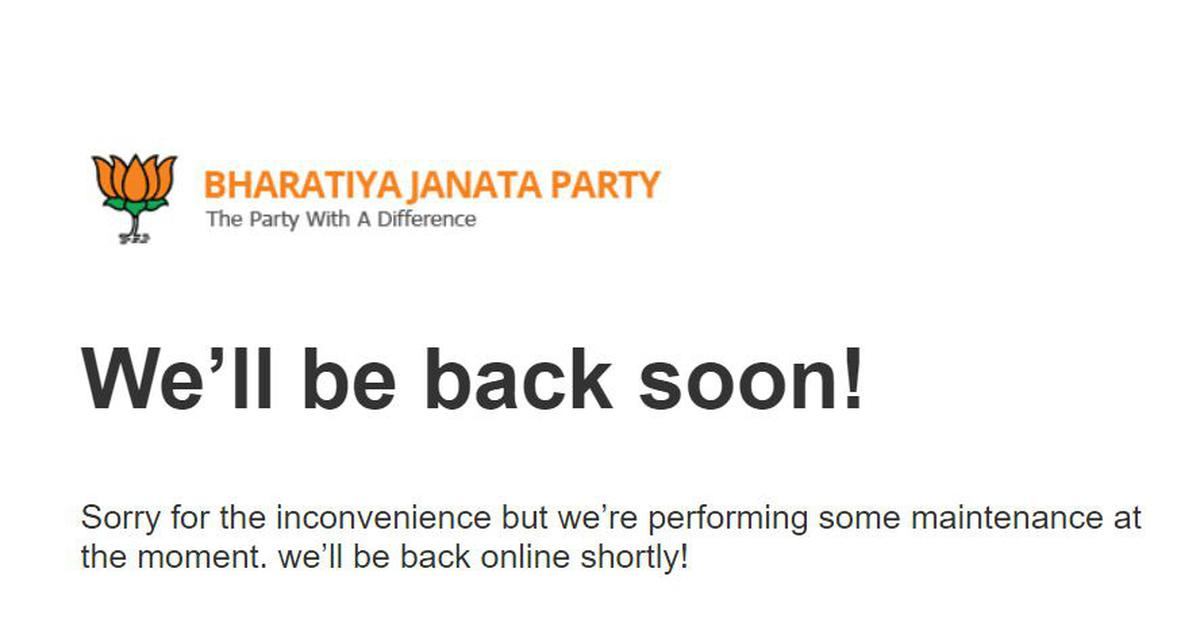 BJP website not back online even 11 days after being hacked