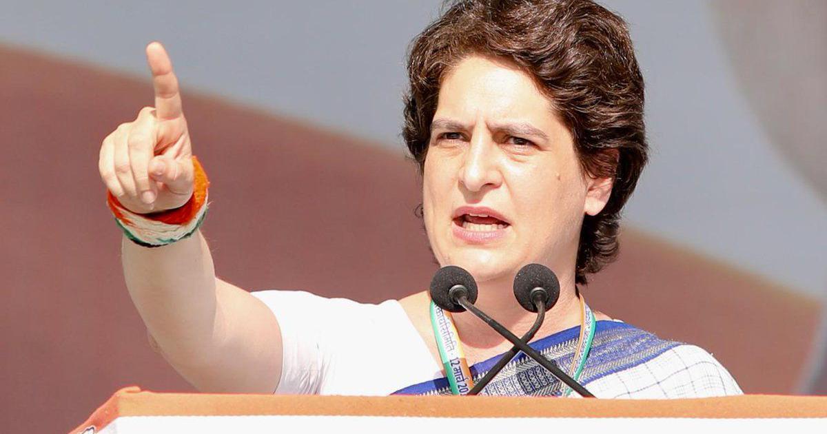 प्रियंका गांधी ने अपनी पहली चुनावी रैली को संबोधित किया, मोदी सरकार को बेरोजगारी पर घेरा