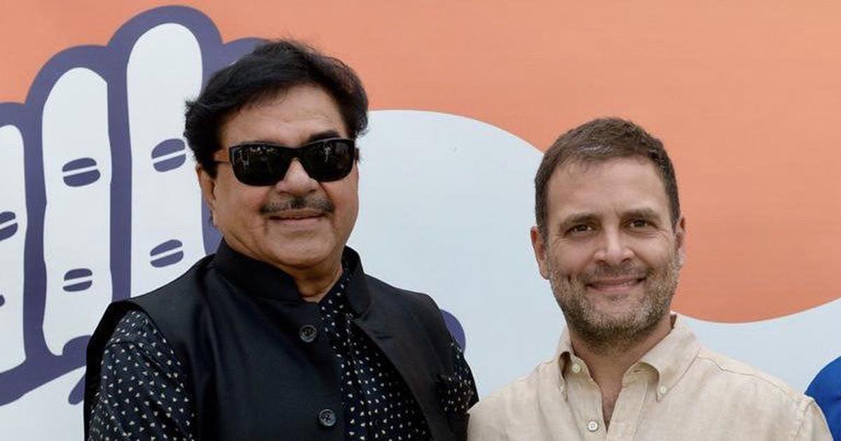 भाजपा के बागी नेता शत्रुघ्न सिन्हा छह अप्रैल को कांग्रेस में शामिल होंगे