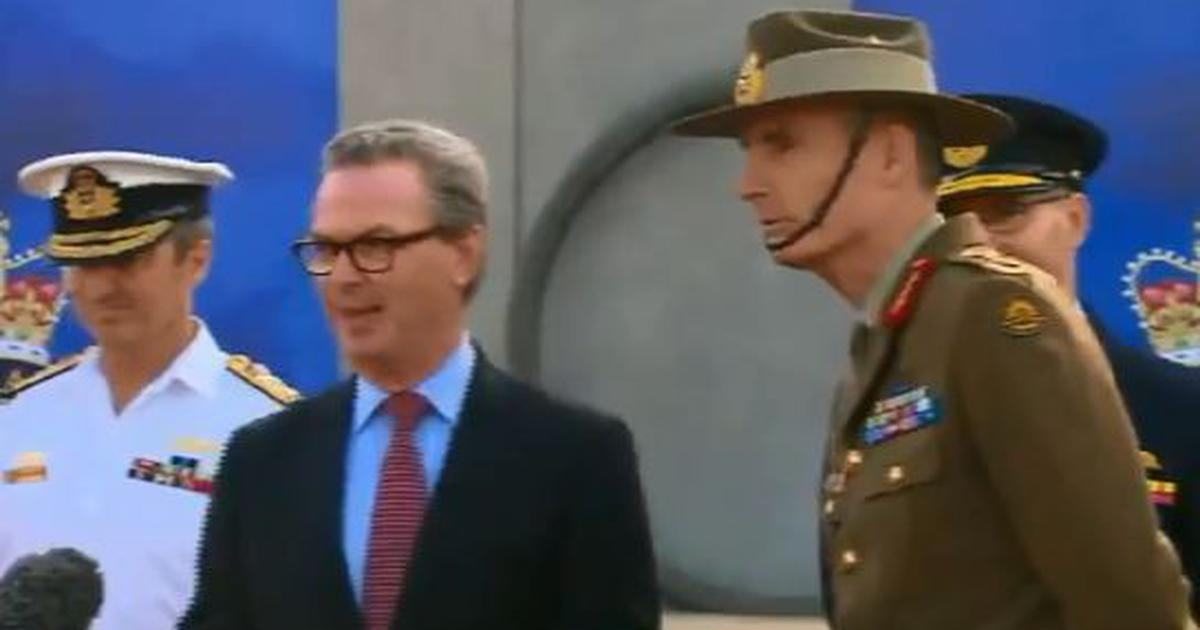 Watch: Why the Australian chief of defence forces interrupted a minister during a press conference