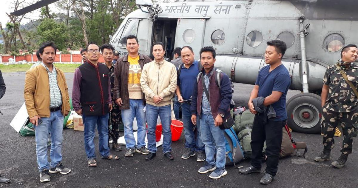 Chopper rides, eight-hour treks: Polling officials in Arunachal Pradesh begin their long journey