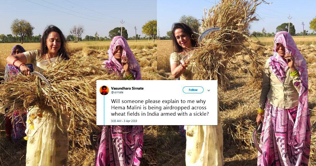 'Dream Girl or Drama Girl?': Hema Malini's farm girl routine for the election trail draws laughs