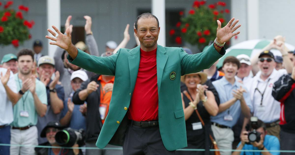 I hope they are proud of their dad, says Woods after winning the Masters in the presence of his kids