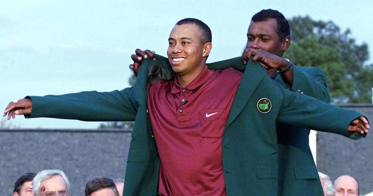 Watch: From 'Tiger Slam' to the impossible chip in 2005, a look at Woods memorable Masters moments