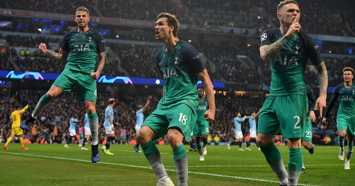 f62f2d57c5e Twitter hails Spurs after sensational Champions League win over Man City
