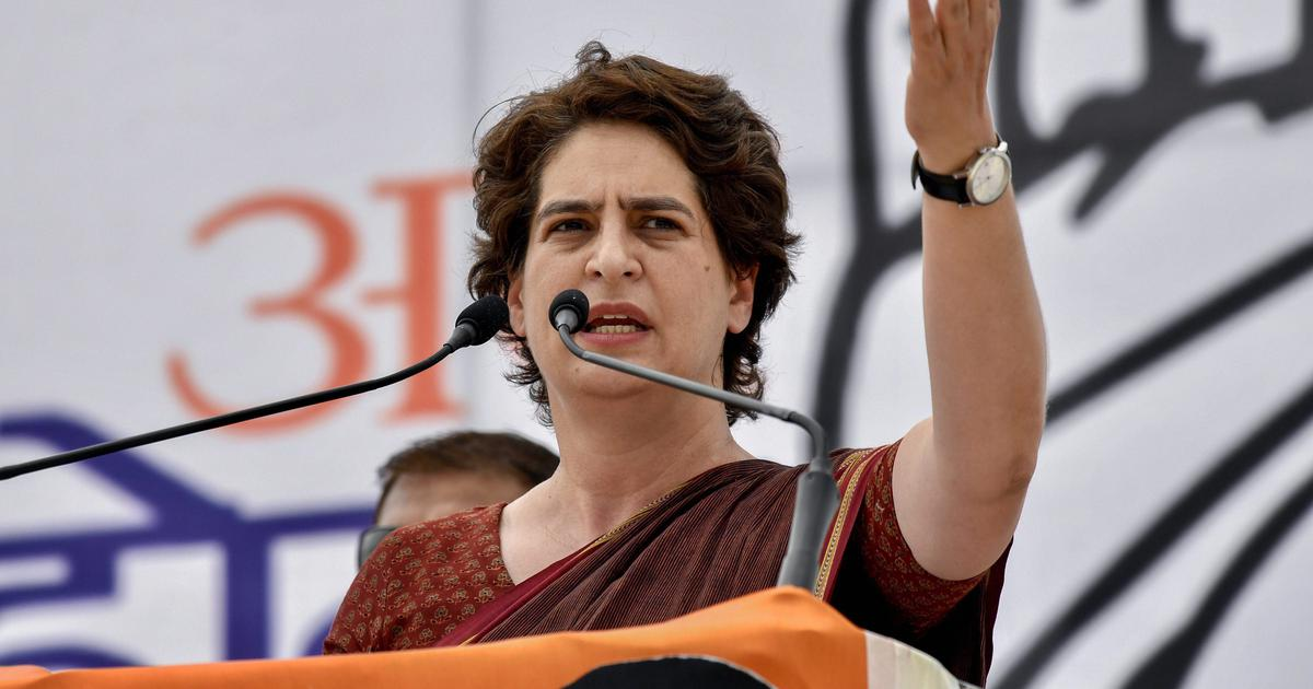 Tense Moments Priyanka Gandhi 'manhandled' by cops in Lucknow