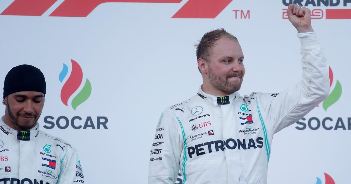 Formula One: Mercedes' Bottas edges out teammate Hamilton to clinch Azerbaijan Grand Prix